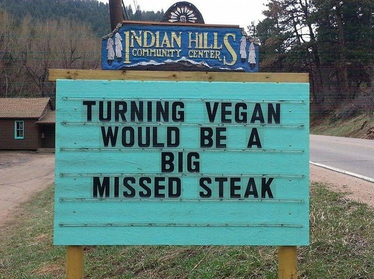 Latest Funny Signs  The 20 Greatest Anti-Vegan Restaurant Signs of All Time 1
