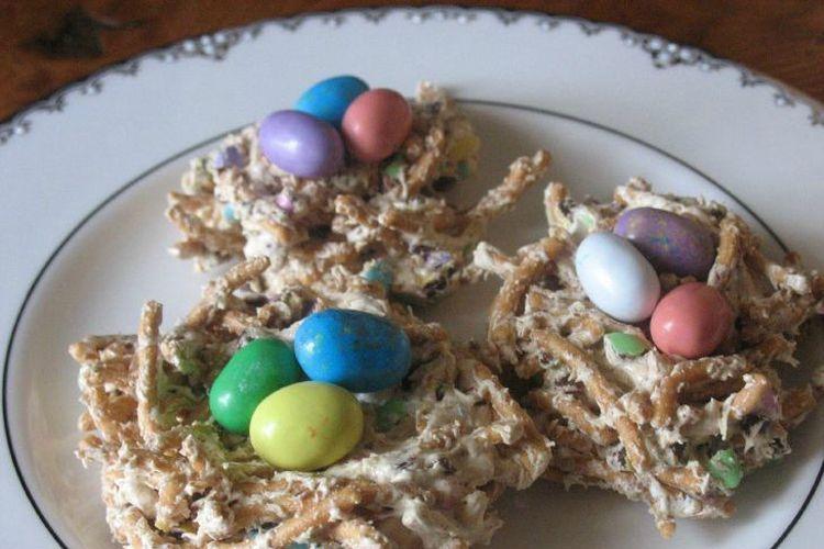 chow mein noodle bird's nest cookies | recipe | food