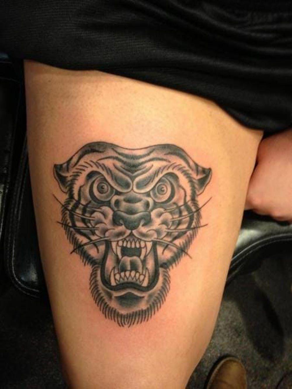 25 Traditional Black And Grey Tattoos Grey Tattoo Black Grey Tattoos Traditional Tiger Tattoo