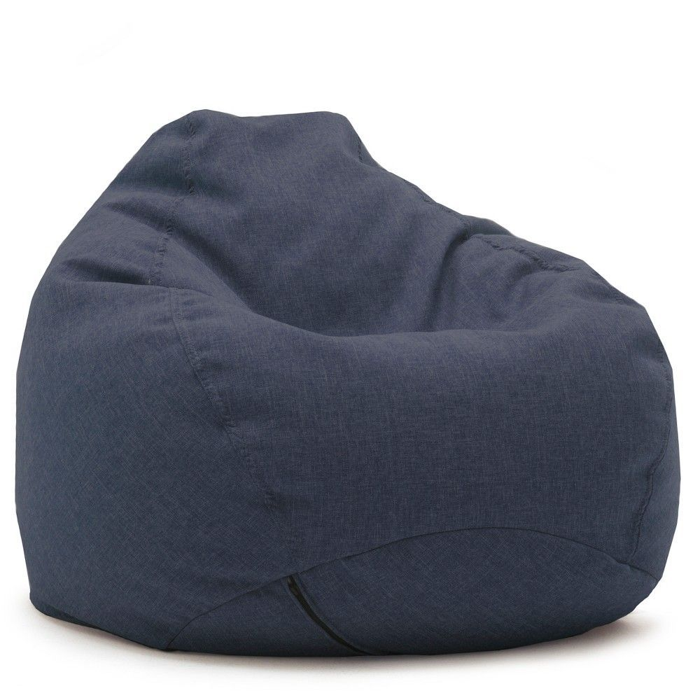 Big joe chair blue - Ultra Lounge Bean Bag Chair Blue Big Joe