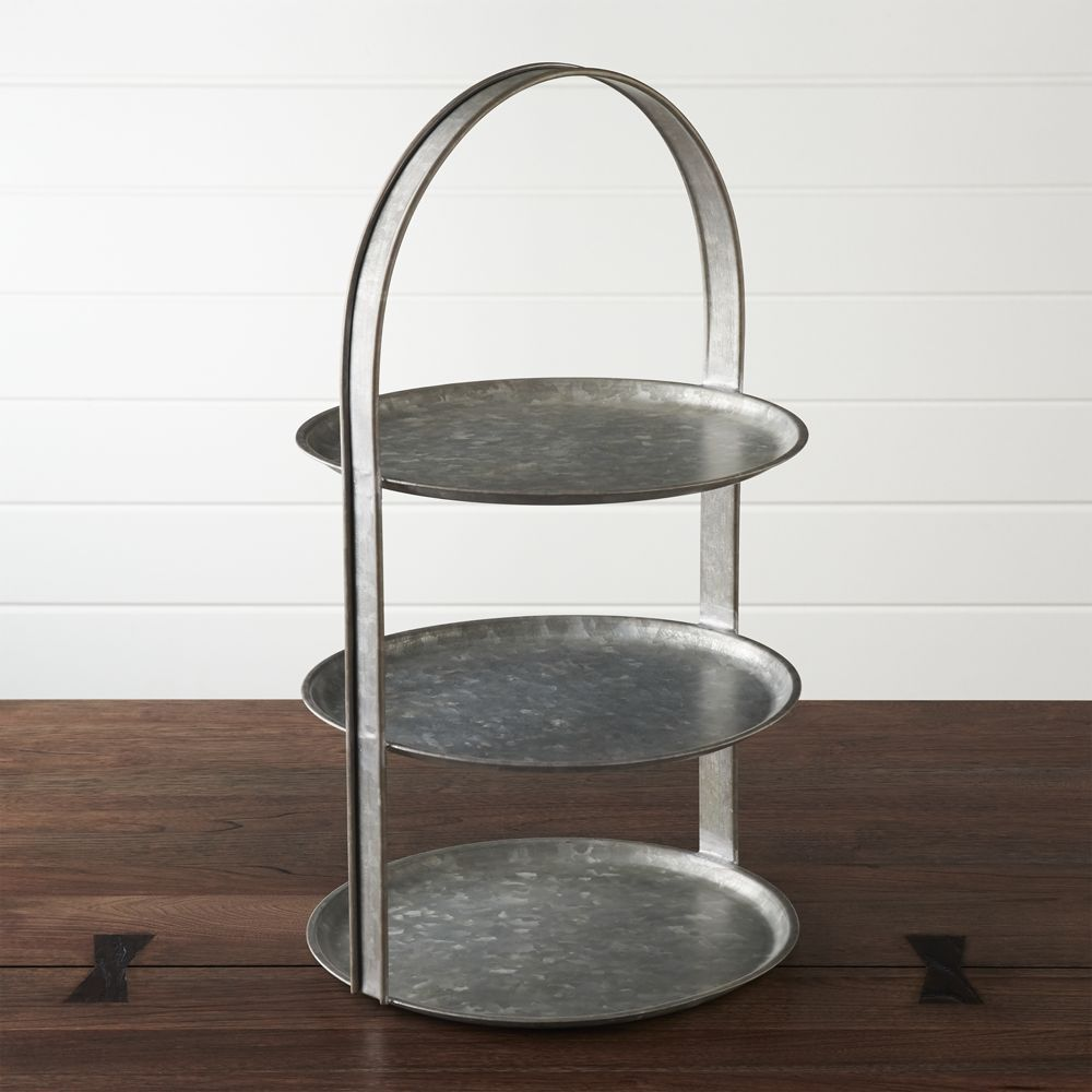 Galvanized 3 Tier Server Reviews Crate And Barrel Tiered Server Crate And Barrel Cake Plates Stand