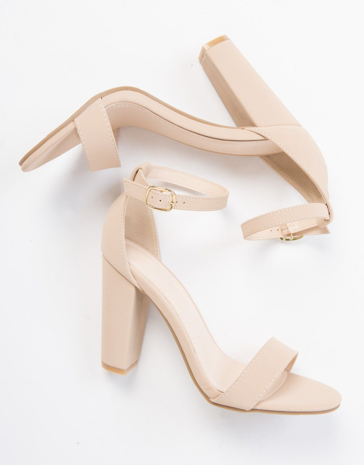 9edbd7e3a06 Chunky Ankle Strapped Sandals in 2019