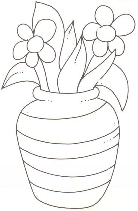 Primavera Com Imagens Paginas Para Colorir Desenho De Vasos
