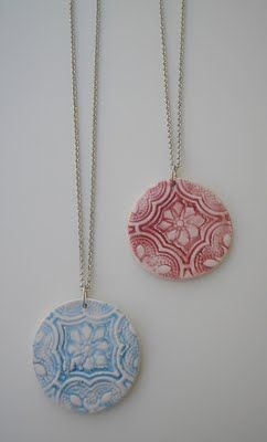 Lovely ceramic jewellery