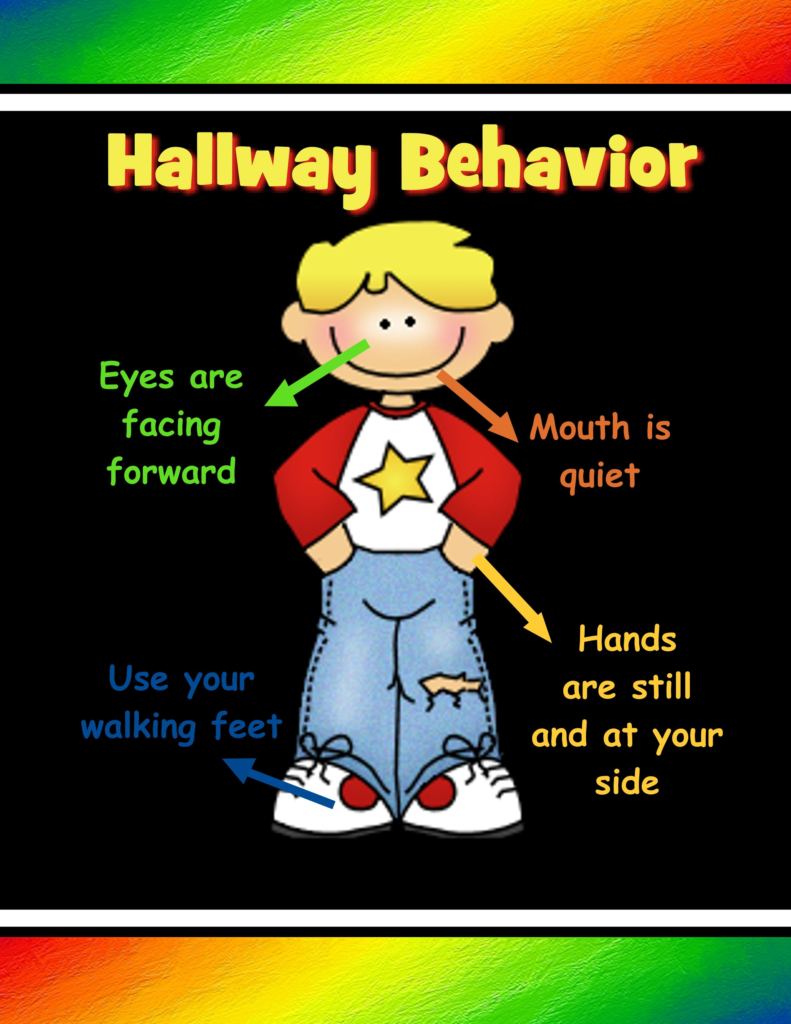 Poster For Hallway Behavior From Icreate2educate