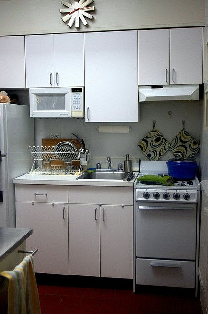 Mostly White Tiny Kitchen Kitchen Design Small Kitchen Remodel