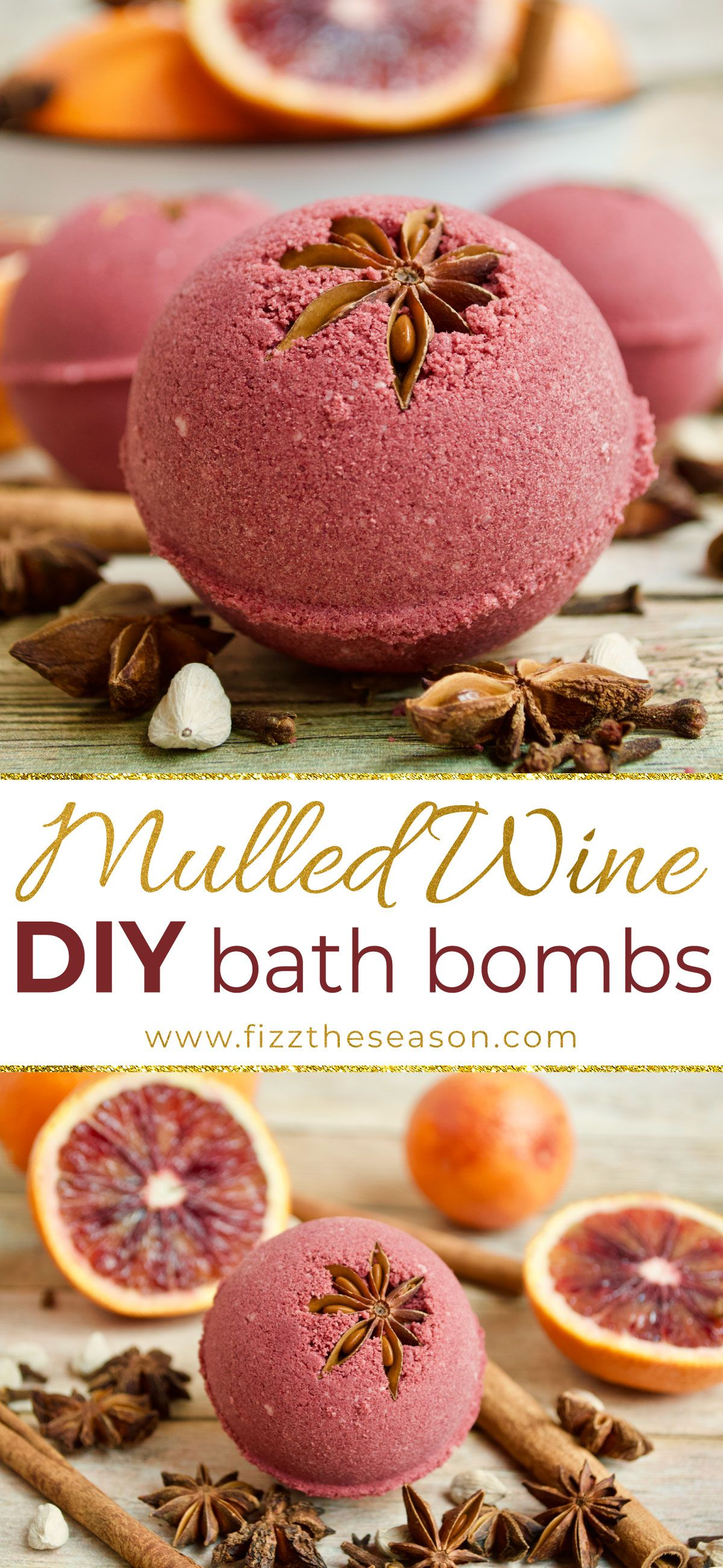 Diy Mulled Wine Bath Bombs Fizz The Season Recipe Bath Bomb Recipes Diy Bath Products Homemade Bath Products