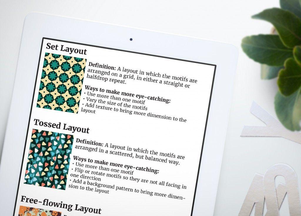 Surface Pattern Design Layout Chart Surface Pattern Design