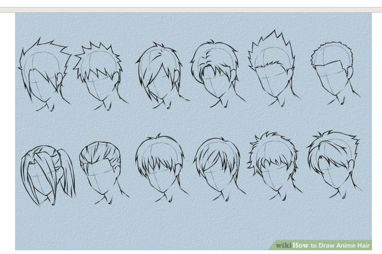 Pin By Sarah Juarez On Drawings How To Draw Anime Hair Manga Hair Anime Hair