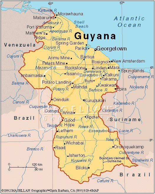Jonestown <b>Guyana Map</b> | Guyana | British guiana, Guyanese ...