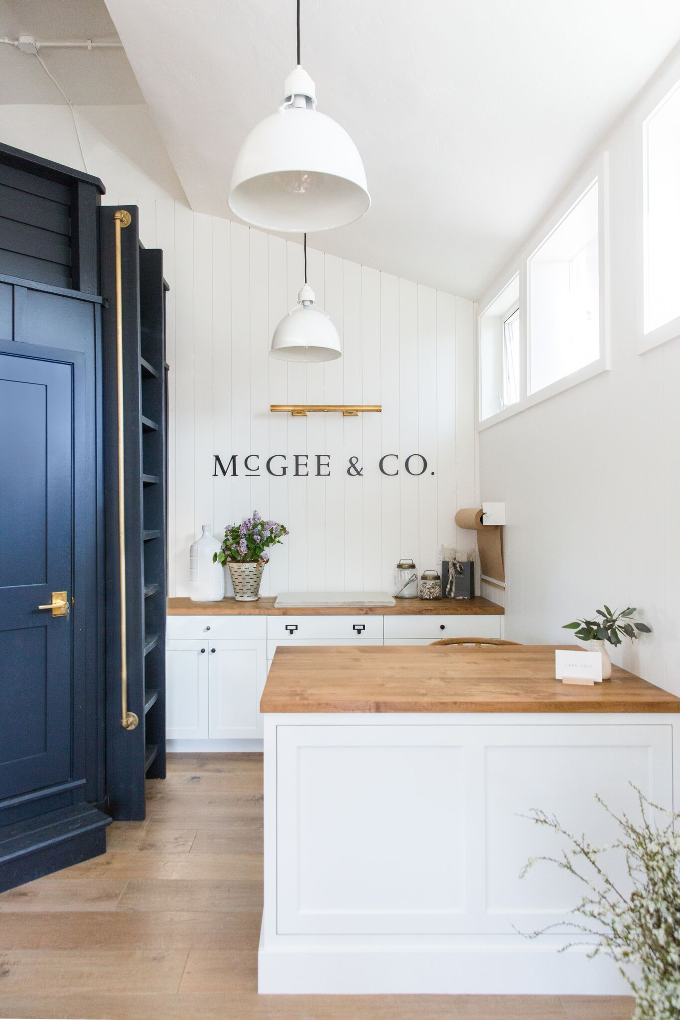 McGee & Co. Storefront Photo Tour | Mesas, Lights and Benjamin moore