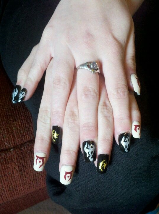 Nails Skyrim : nails, skyrim, Skyrim, Oblivion, Themed., Might, This...just, Learn, Empire's, Sigil, Maquillaje