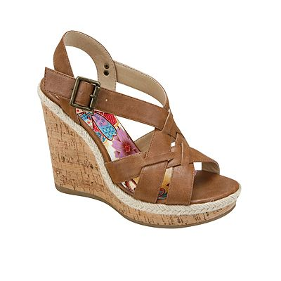 77896f54866 Brown wedge sandals are a summer style staple! Jamison by LIMELIGHT ...