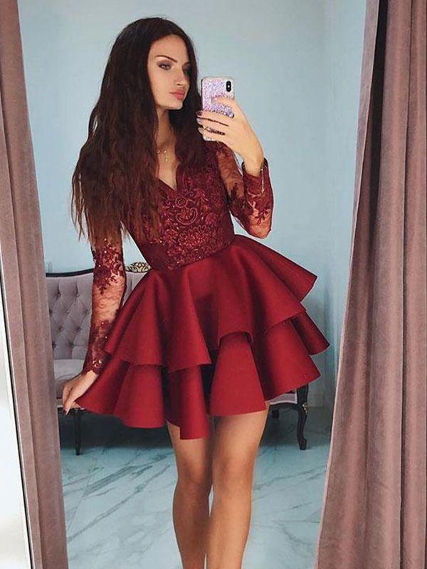 Custom Made Cute Homecoming Dress Short Prom Dress with Sleeves NA6907
