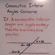 Consecutive Interior Angles Theorem Versus Consecutive Interior Angles  Converse.