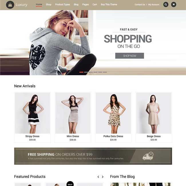 15cae0b1e6854 Luxury eCommerce WordPress Theme