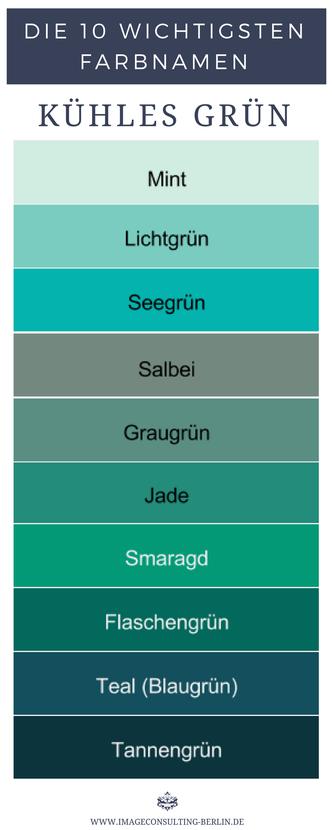 Farbnamen Wie Heißen Deine Besten Farben Grün Und