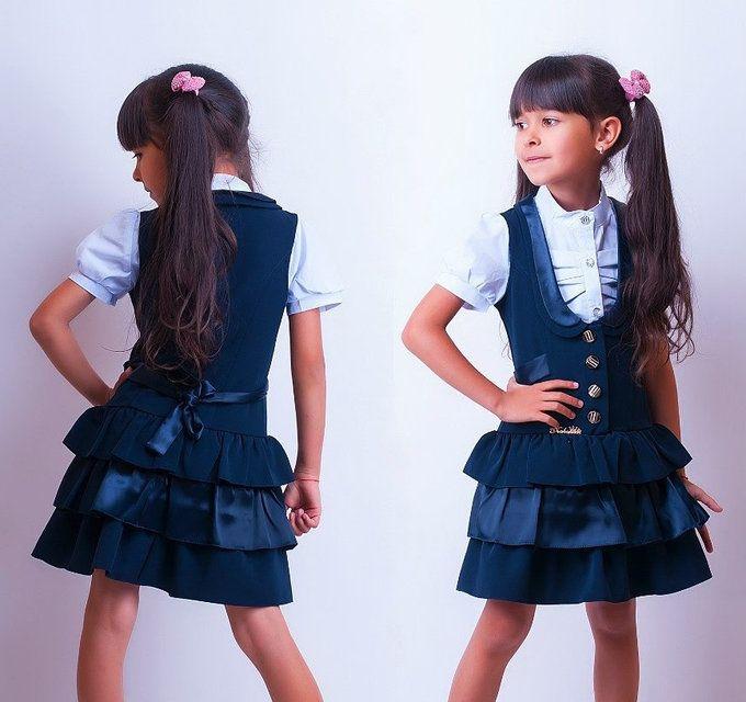 Школьный сарафан для девочки Р879., фото 2 | Девочка ...