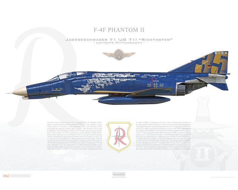 Печать профиля самолета F4F Phantom II, Jagdgeschwader 71