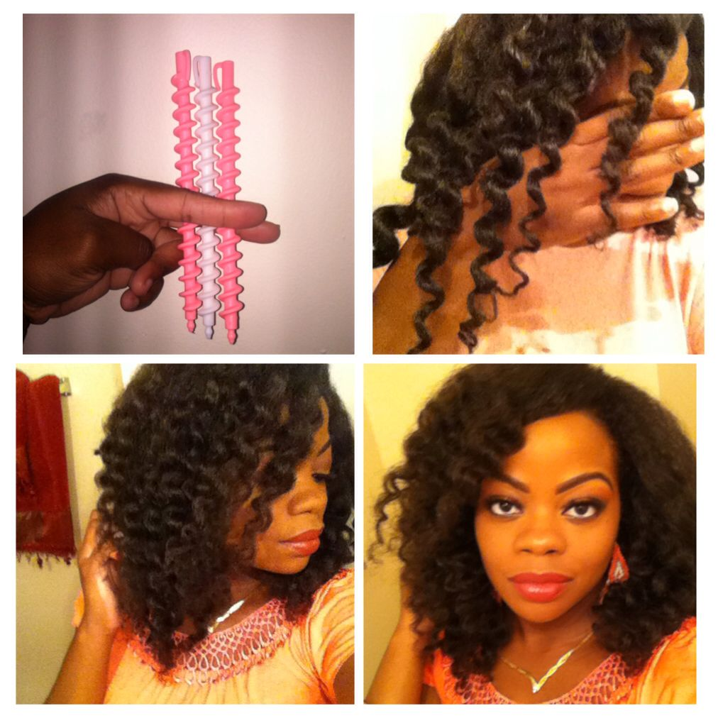 Spiral rods on marley crochet hair hair bliss pinterest marley