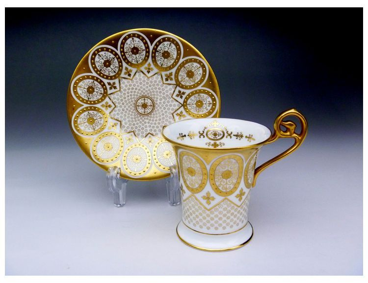 Cauldon chocolate cup and saucer  1905-1920