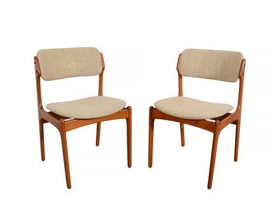 6 Teak Dining Chairs Erik Buck Danish Modern OD Mobler