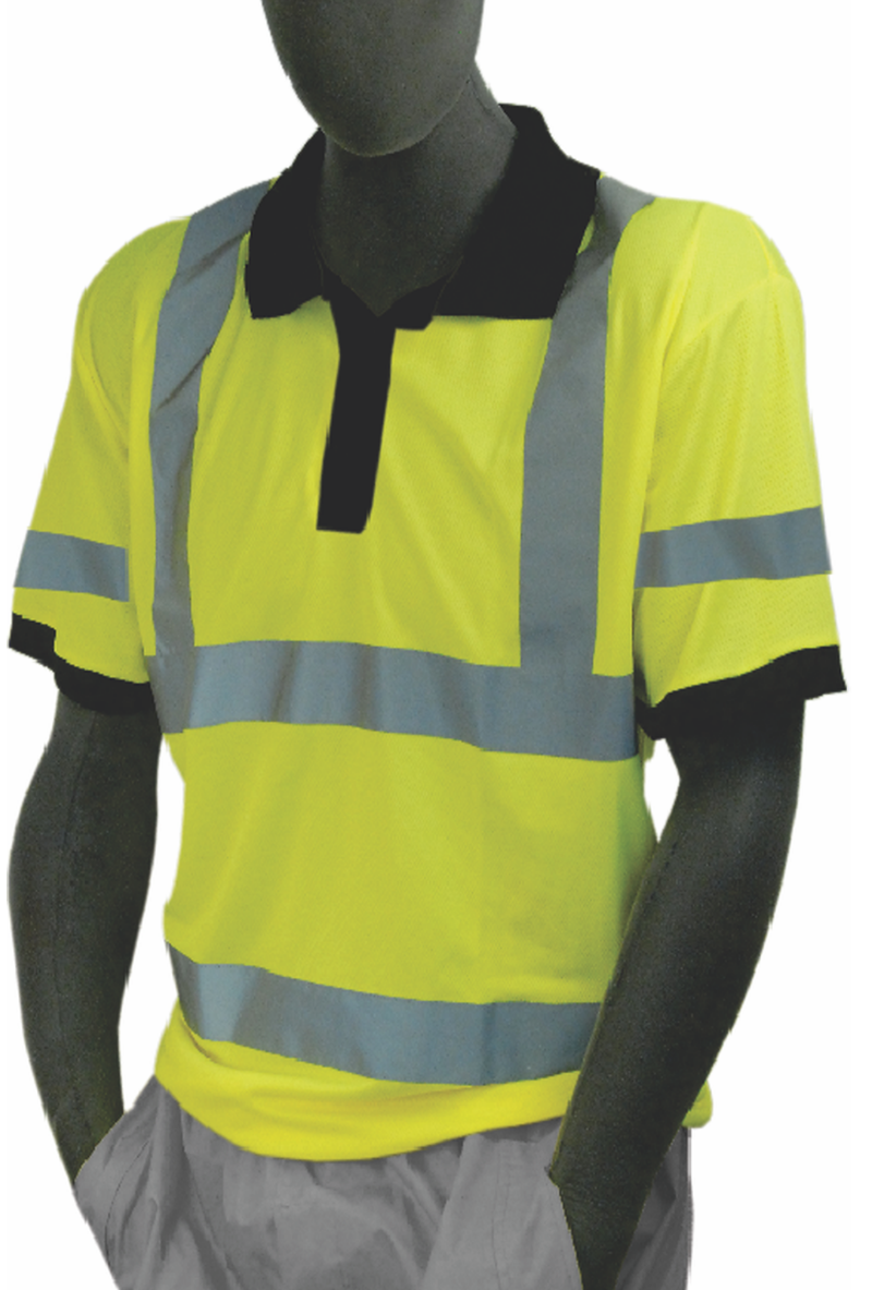 Safety Shirt Majestic 75 5311 Hi Vis Cl3 Safety Polo Ansi Class 3