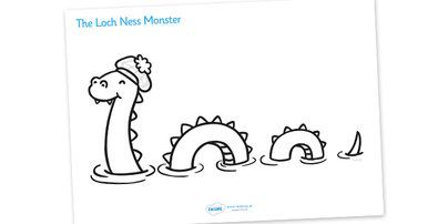 Loch Ness Monster Colouring Sheet Loch Ness Monster Monster Coloring Pages Loch Ness Monster Facts