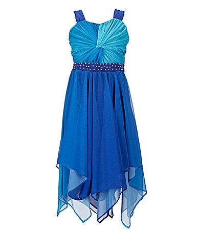 f7351a74288 Tween Diva 716 Shirred Ombre Dress  Dillards