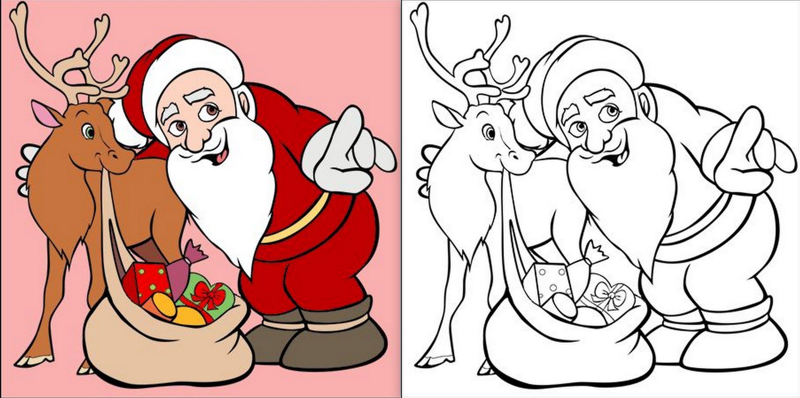 Modèles de Père Noël à dessiner, colorier ou découper ! | Dessin