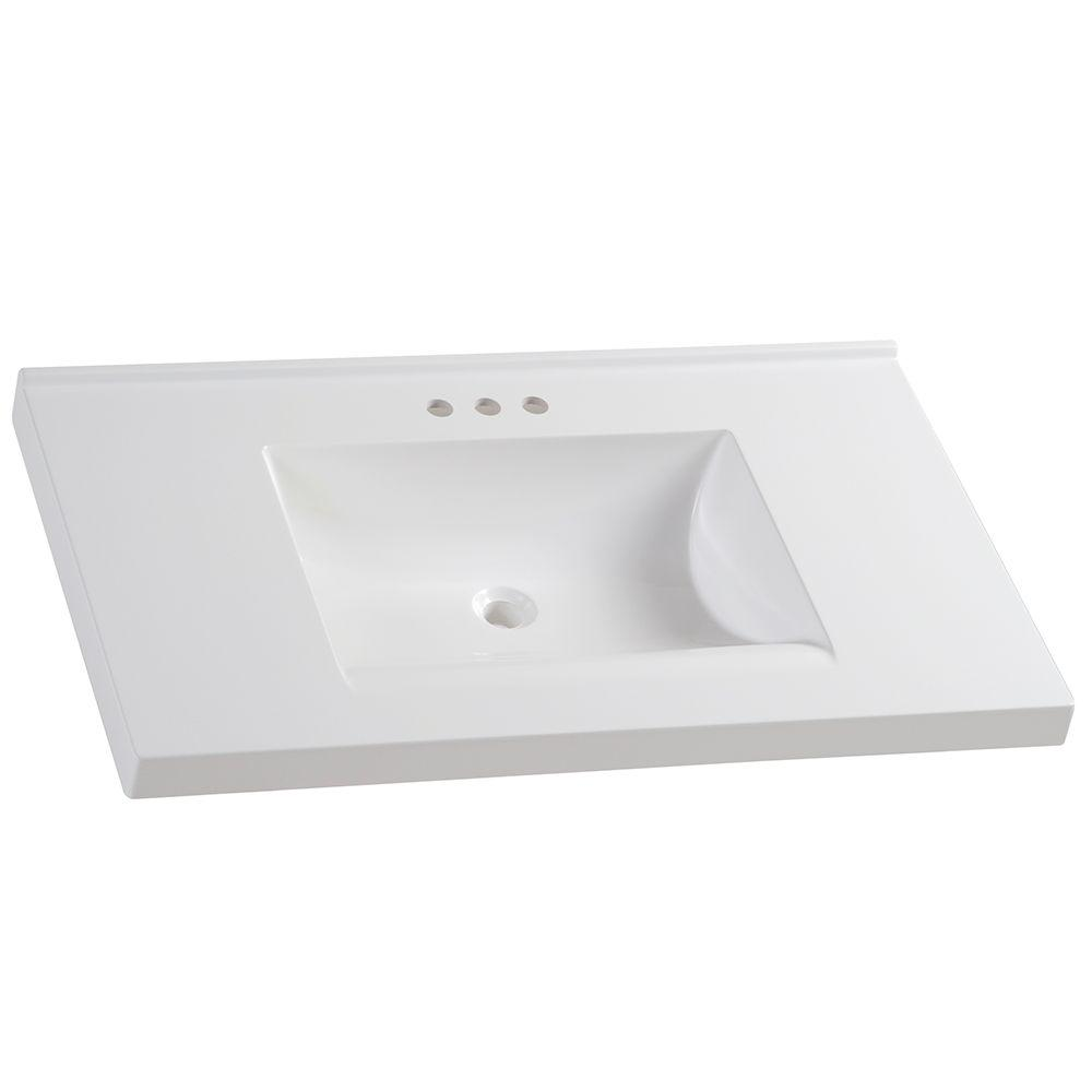 Glacier Bay 37 In W X 22 In D Cultured Marble Vanity Top In