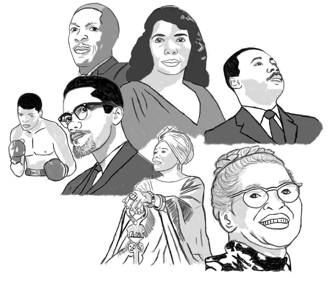 Happy black history month #art #artist #artistsoninstagram #autodesksketchbook #blackhistorymonth #black #blackart... Find more shit here : FUNNYSHIT.FUN