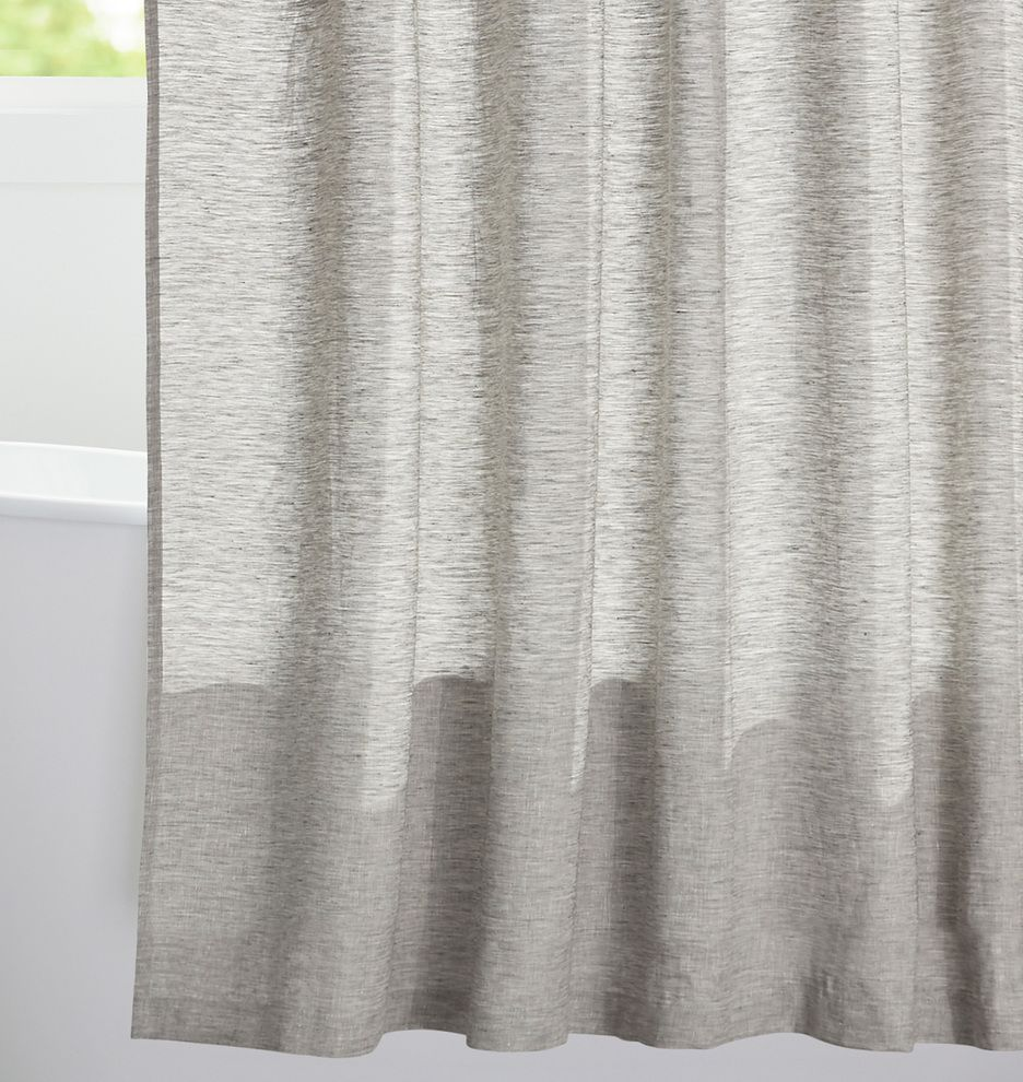 Gray Linen Shower Curtain Rejuvenation Curtains Grey Curtains
