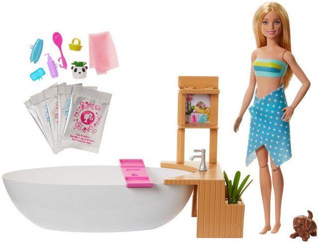 Anziehpuppe Wellnesstag Mit Badewanne In 2020 Barbies Puppen Barbie Fashionista Barbie Badezimmer
