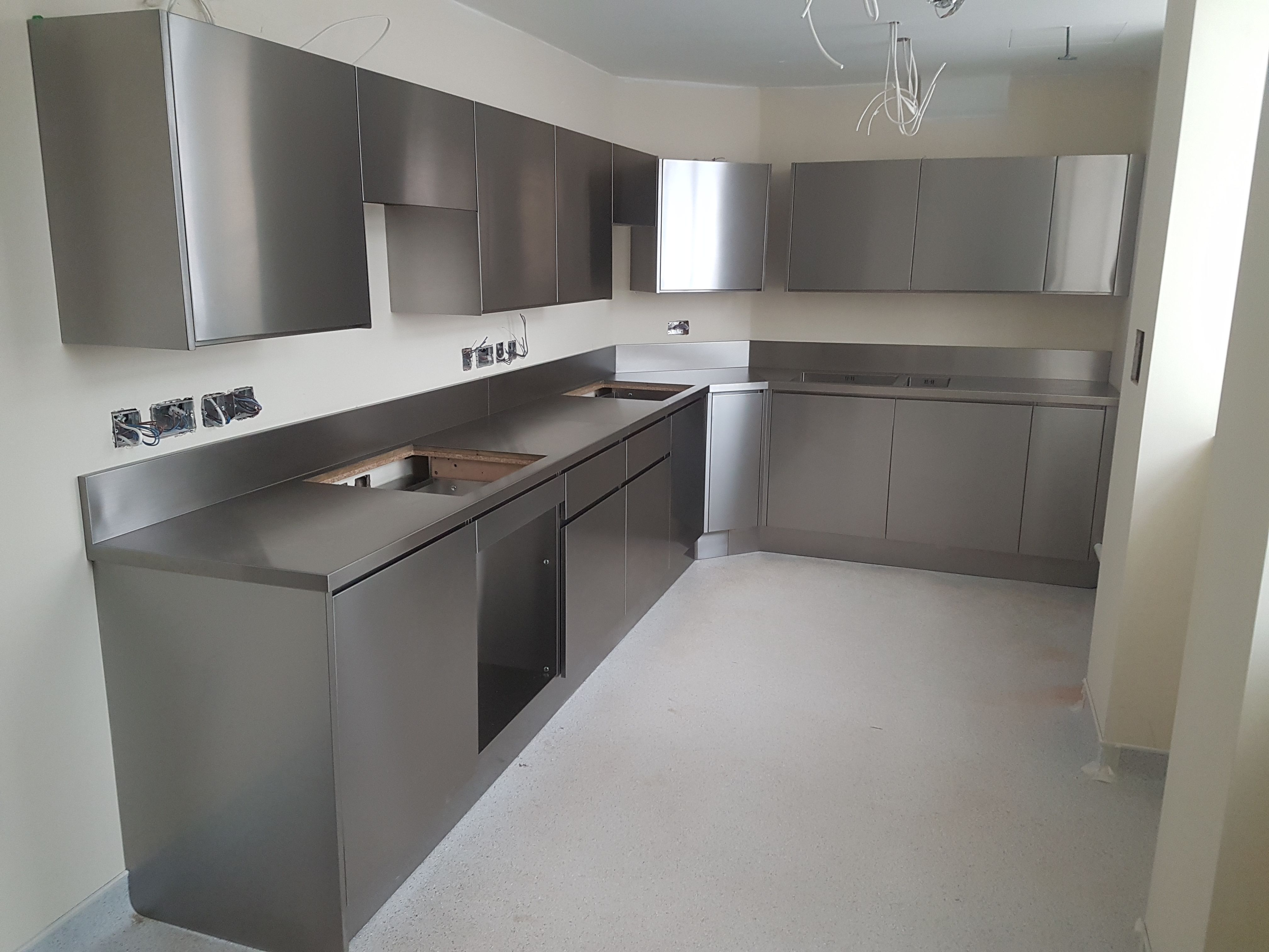 Recently Installed Stainless Steel Kitchen Stainless Steel Kitchen Design Kitchen Interior Design Modern Stainless Steel Kitchen Cabinets