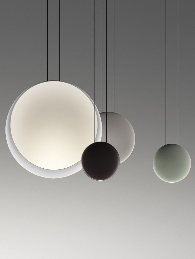 Cosmos spheres of light that float suspended in the air Vibia lamp - lamparas para escaleras