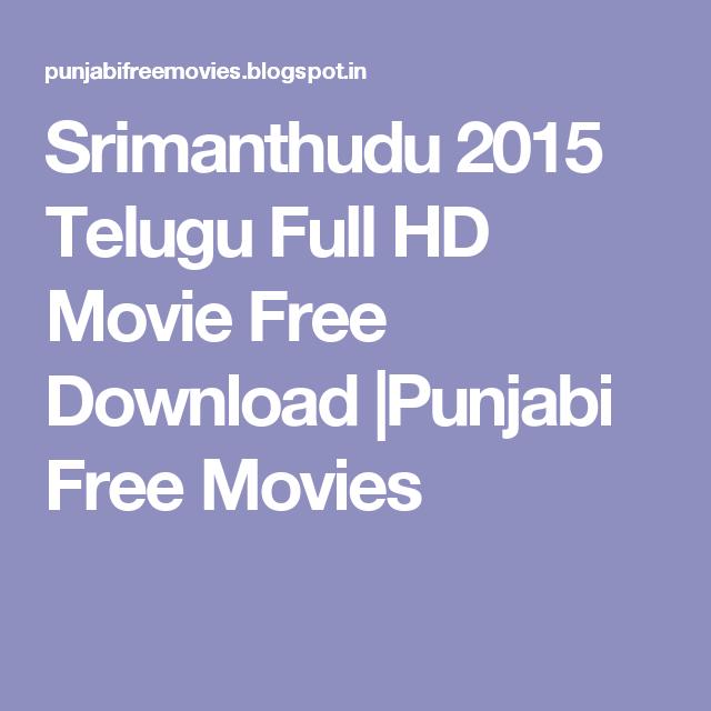 Srimanthudu 2015 Telugu Full HD Movie Free Download  Punjabi Free