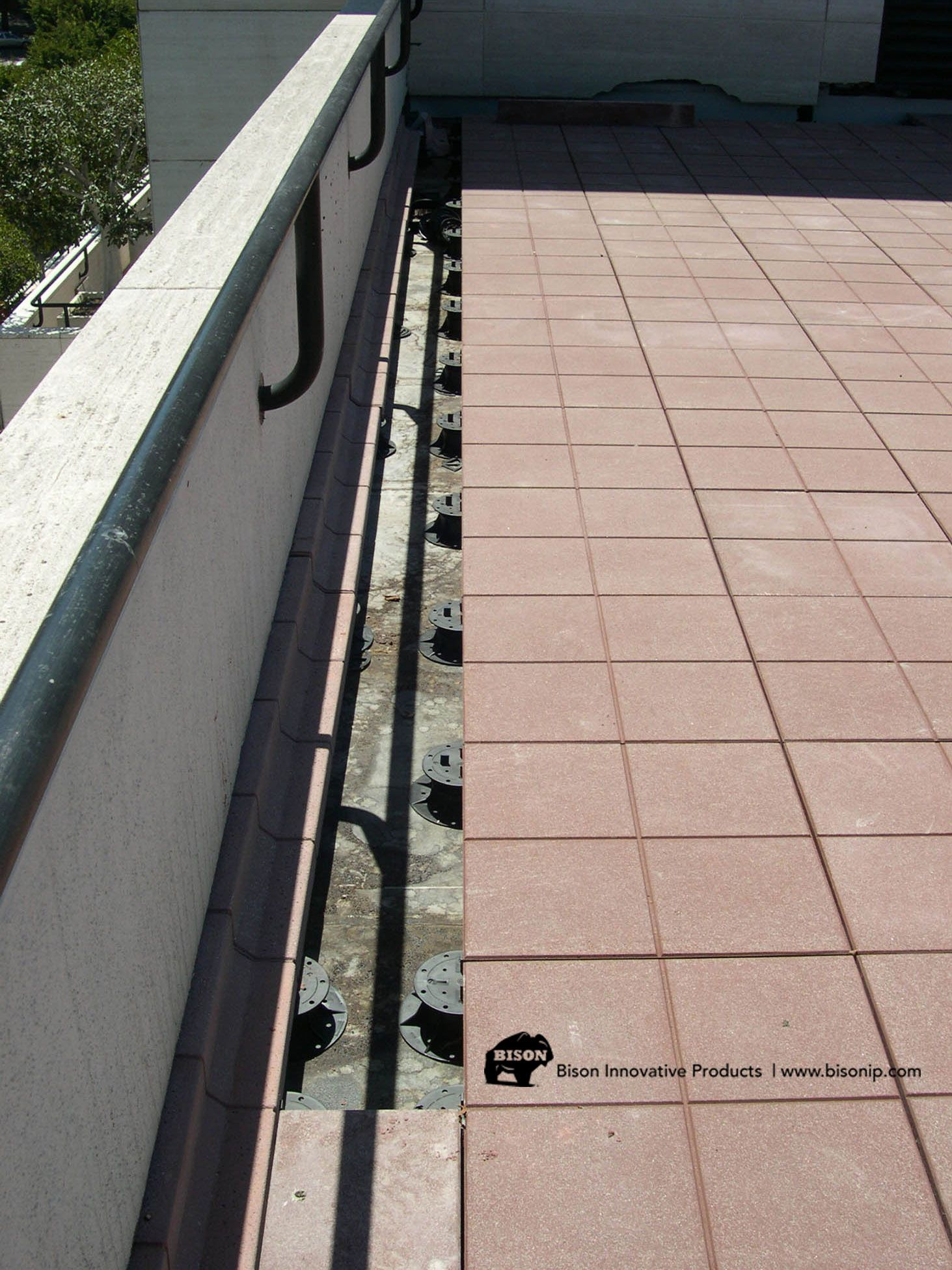 How To Install Paver Tiles Around A Perimeter Using Bison Deck Supports And Concrete Pavers