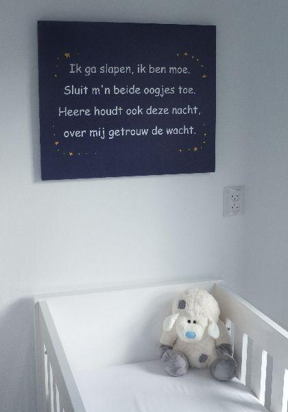tekst op canvas babykamer www.tekstopcanvas.nl | portfolio, Deco ideeën