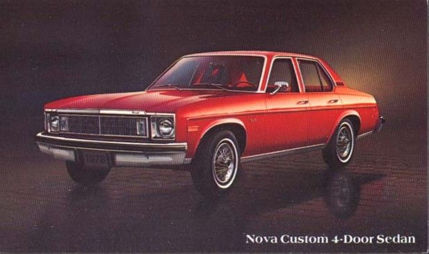 Image Of The Chevrolet Nova Custom Door Sedan Post Card