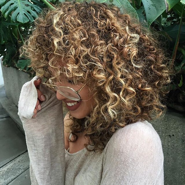 Curls Highlights Thick Natural Healthy Hairstyle For Girls With
