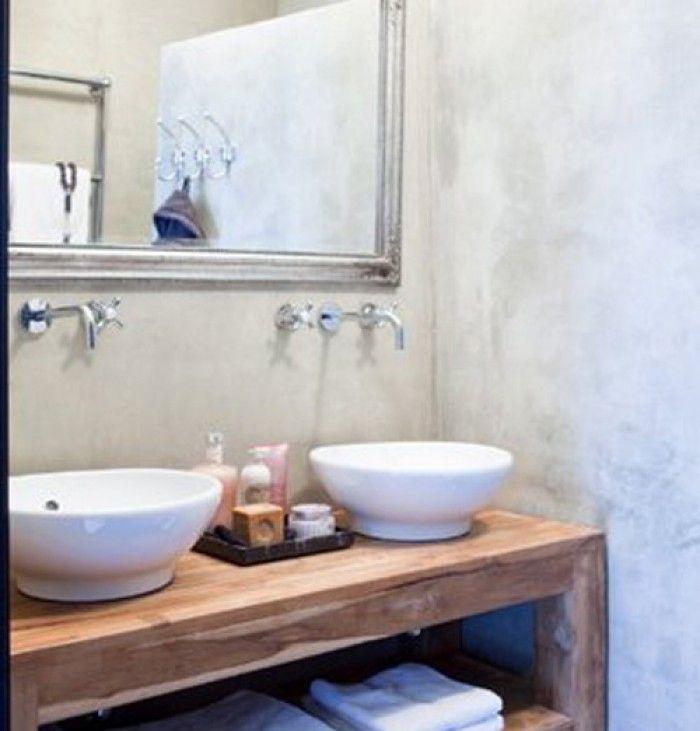 badkamer kommen op houten blad - Google zoeken | Vanities ...
