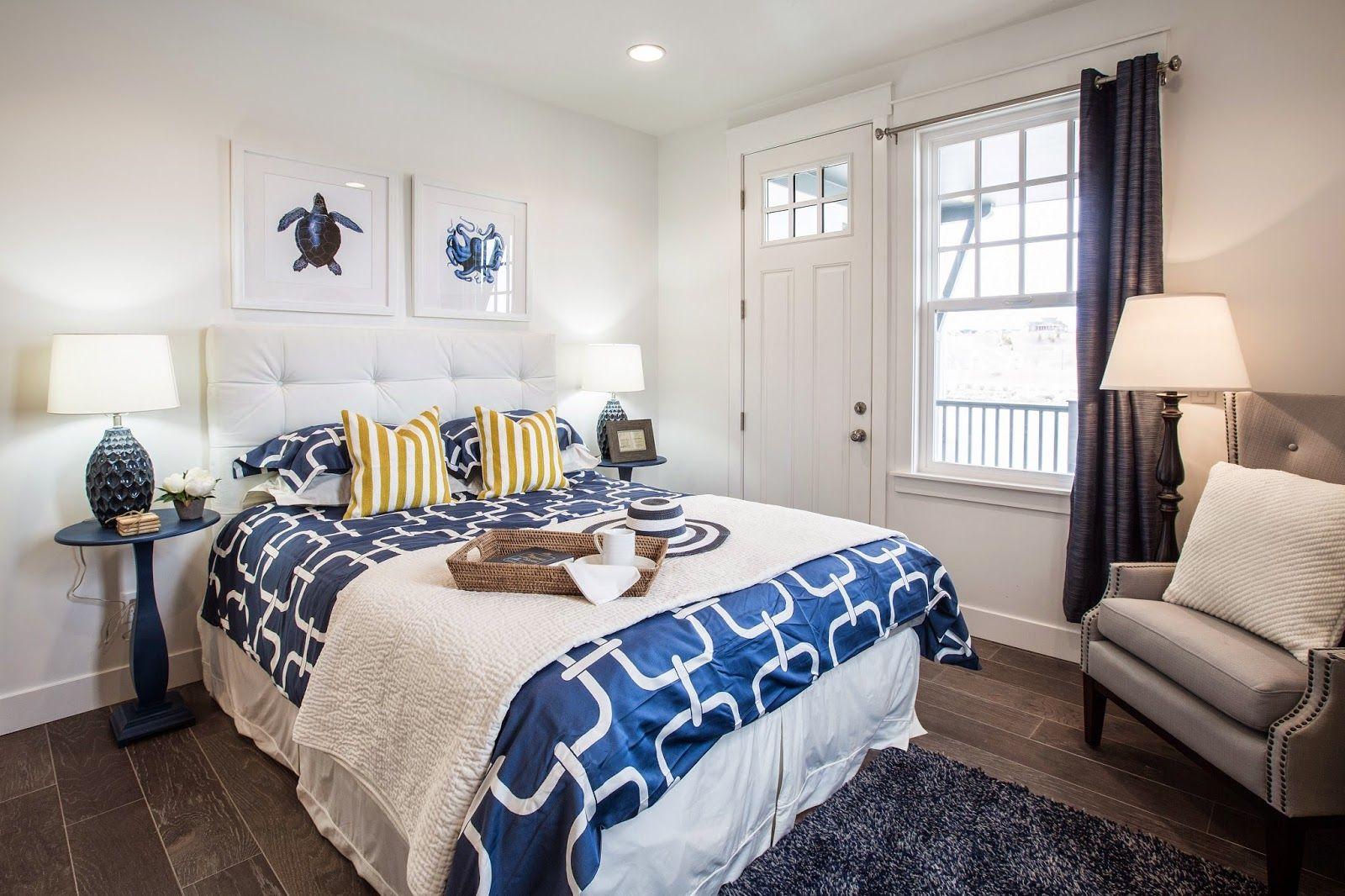 I like the plain baseboards. Lake village, Bedroom