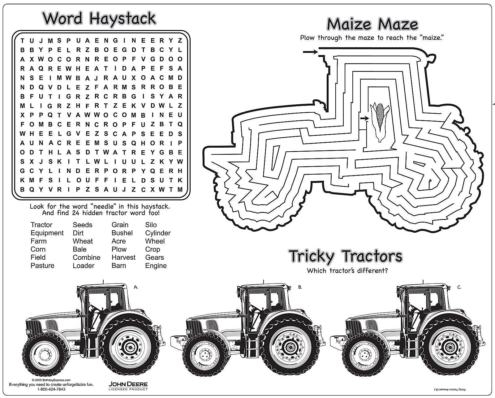 John Deere Tractor Coloring Pages Free
