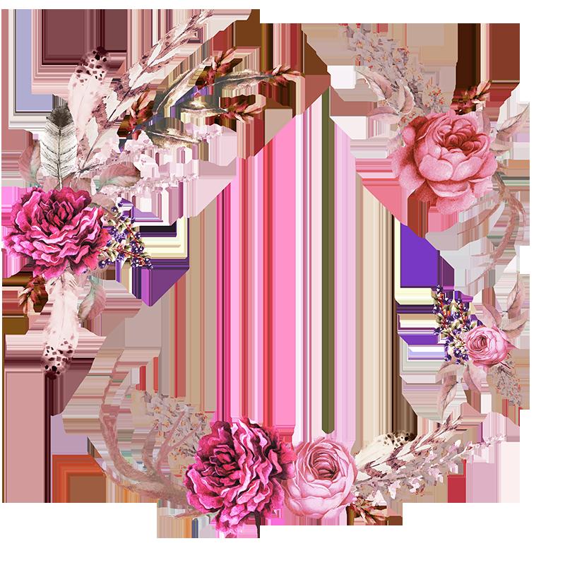 Frames floral em png para baixar | фоны | Pinterest | Floral ...