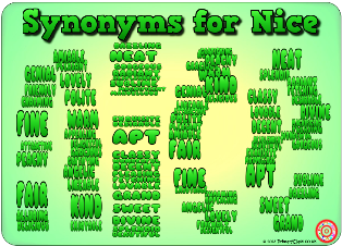 Synonyms for Nice Poster Word Banks Pinterest Math