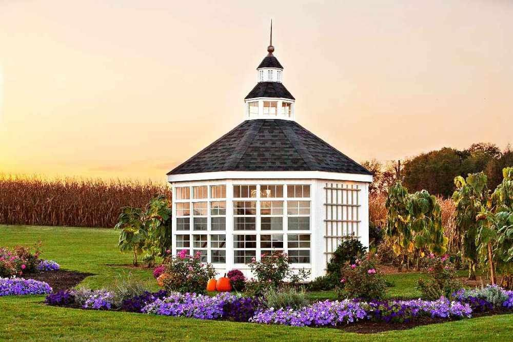 Little Cottage Company 12x12 Octagon Garden Shed Greenhouse Free Shipping Backyard Garden Shed Building A Shed