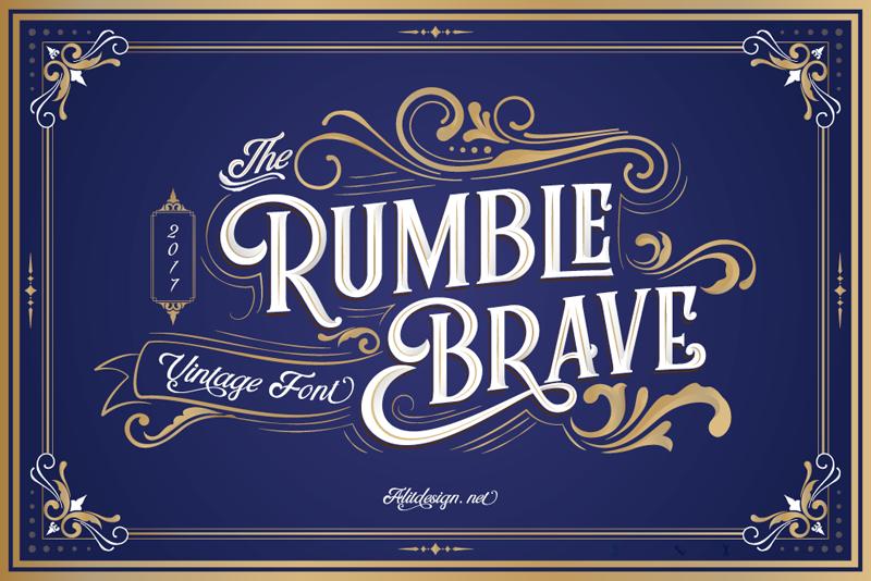 Rumble Brave Font Dafont Com Vintage Fonts Free Fonts For Designers Best Free Fonts