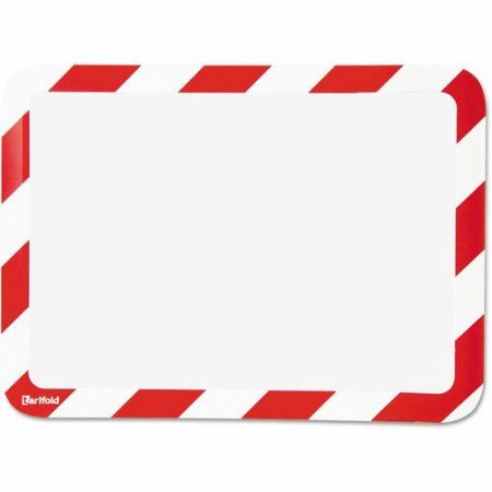 Tarifold, Inc. High Visibility Safety Frame Display Pocket-Magnet Back, 10-1/4 inch x 14-1/2 inch, Red/WH