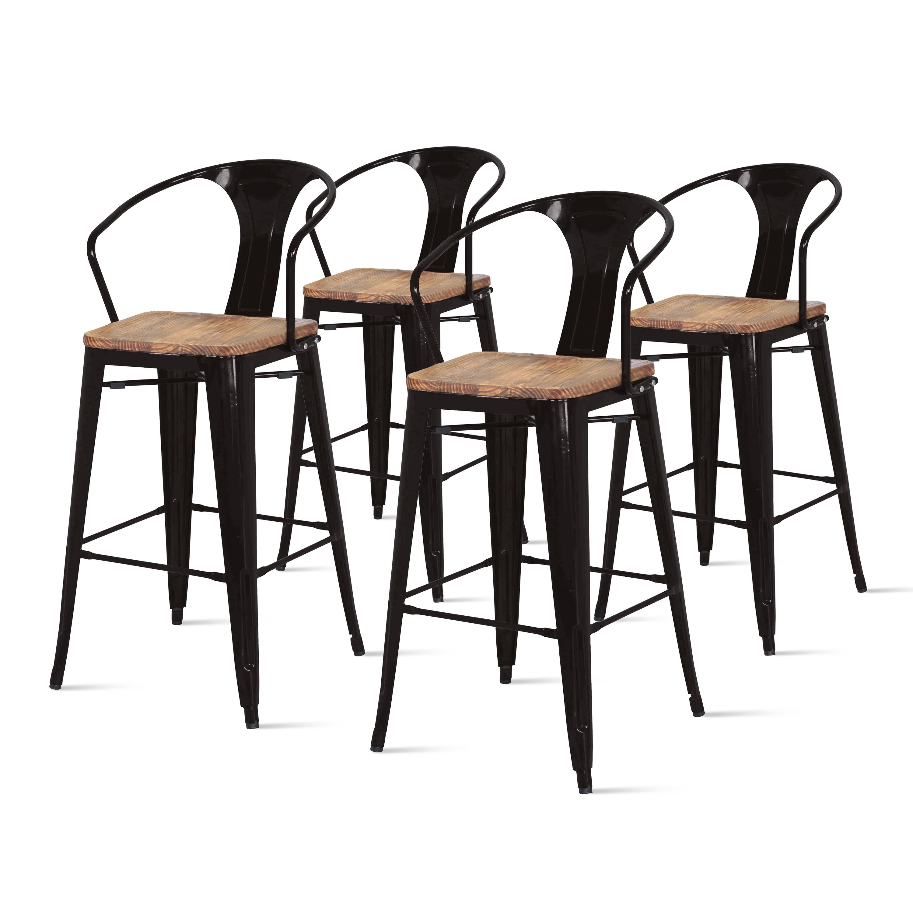 Astonishing Metropolis Metal Bar Stool Set Of 4 Red In 2019 Products Caraccident5 Cool Chair Designs And Ideas Caraccident5Info